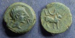 Ancient Coins - Spain, Castulo Circa 50 BC, AE18