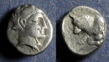 Ancient Coins - Satraps of Caria, Hekatomnos 392-376 BC, Diobol