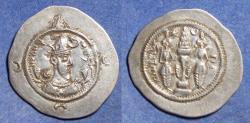 Ancient Coins - Sassanian Kingdom, Khusro I 531-579, Silver Drachm
