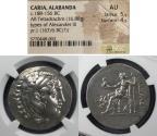 Ancient Coins - Caria, Alabanda, In the name of Alexander III Struck 174/3 BC, Tetradrachm