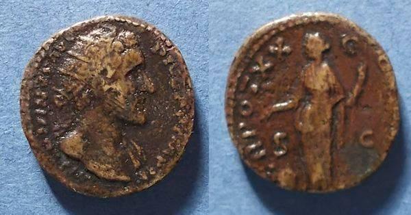 Ancient Coins - Roman Empire, Antoninus Pius 138-161, Dupondius
