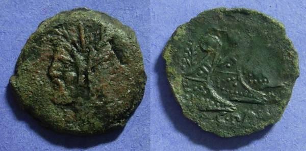 Ancient Coins - Roman Republic – C Vibius C F Pansa – Aes 90BC