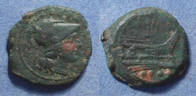 Ancient Coins - Roman Republic, Anonymous 211-206 BC, Triens