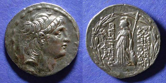 Ancient Coins - Seleucid Kingdom, Antiochos VII 138-129 BC, Tetradrachm