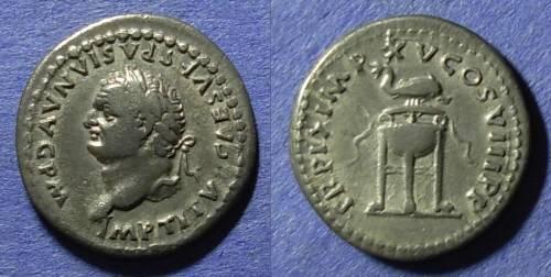 Ancient Coins - Roman Empire, Titus (as Augustus) 79-81 AD, Denarius