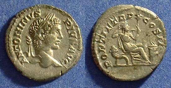Ancient Coins - Caracalla 198 - 217AD Denarius