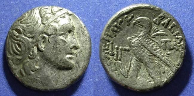 Ancient Coins - Egypt, Ptolemy XII 80-51 BC, Tetradrachm