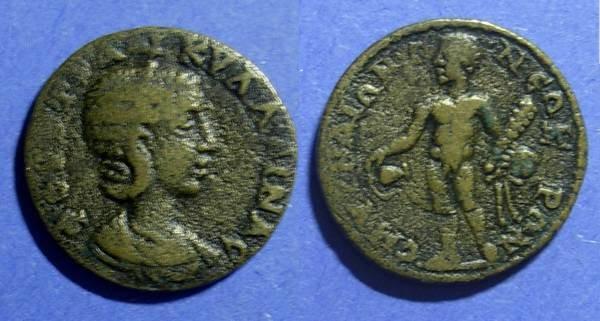 Ancient Coins - Roman Smyrna Ionia, Tranquillina 241-4, AE22