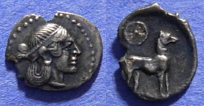 Ancient Coins - Segesta Sicily - AR Litra 461-415 BC - Gorgeous but some minor chips