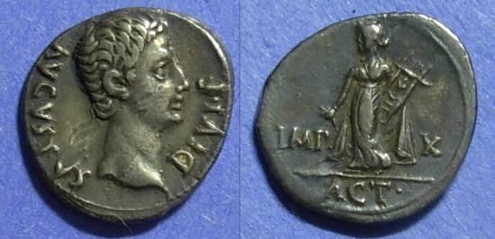 Ancient Coins - Roman Empire Augustus 27BC - 14AD Denarius