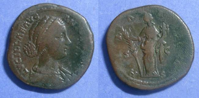 Ancient Coins - Roman Empire, Lucilla (wife of Verus) 161-9 AD, Sestertius