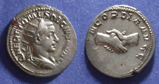 Ancient Coins - Roman Empire, Herennius Etruscus (Caesar) 250-1, Antoninianus