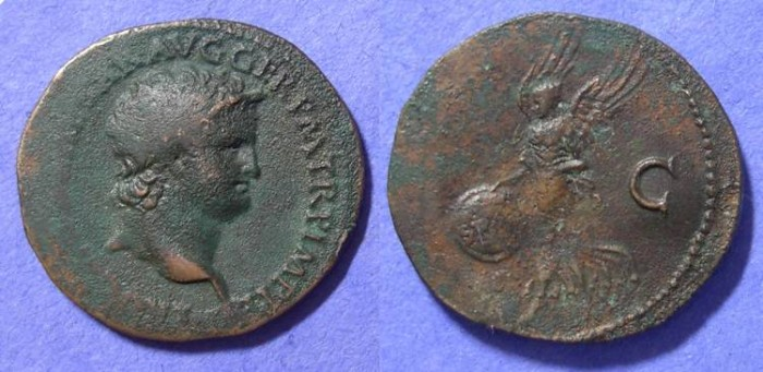 Ancient Coins - Nero - 54-68AD - Aes