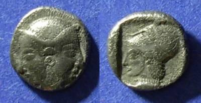 Ancient Coins - Lampsakos, Mysia Crica 300 BC, Trihemiobol
