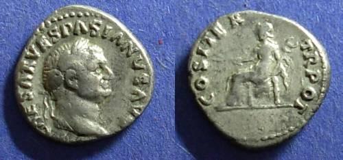 Ancient Coins - Roman Empire, Vespasian 69-79 AD, Denarius