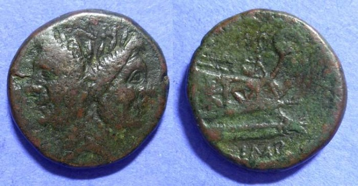 Ancient Coins - Roman Imperatorial - Sextus Pompey 43-36BC : son of Pompey the Great – Aes