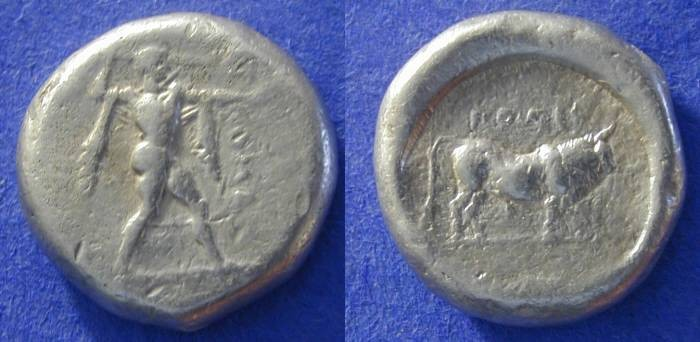 Ancient Coins - Poseidonia, Lucania 445-420 BC, Stater