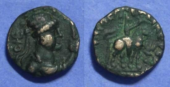 Ancient Coins - Kushan - Soter Megas Circa 100AD  AE Tetradrachm