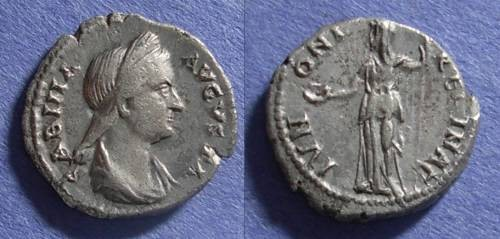 Ancient Coins - Roman Empire, Sabina d. 137AD, Denarius