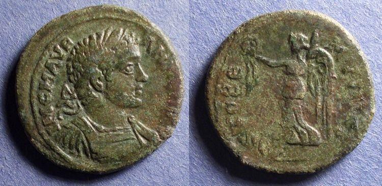 Ancient Coins - Stobi Macedonia, Caracalla 198-217, AE28