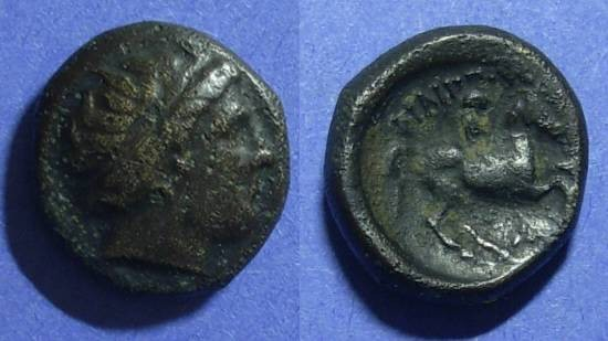 Ancient Coins - Macedonain Kingdom, Philip II 359-300 BC, AE16