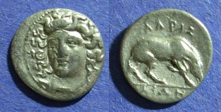Ancient Coins - Larissa, Thessaly 356-342 BC, Diobol