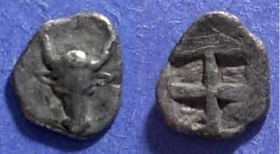 Ancient Coins - Lamponeia, Troas 500-475 BC, Hemiobol