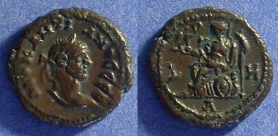 Ancient Coins - Roman Egypt - Diocletian 284-305 - Potin Tetradrachm