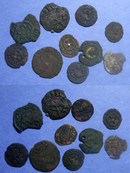 Ancient Coins - Axum, Group of 10 coins Circa 300-600,
