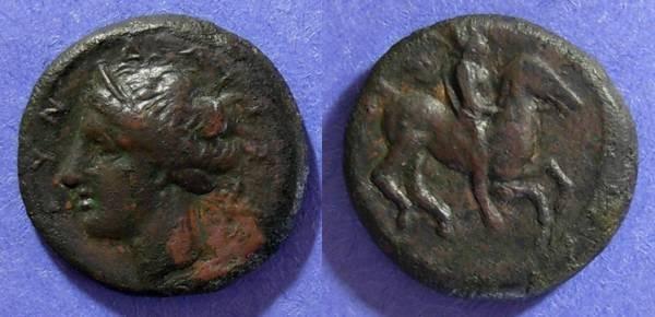 Ancient Coins - Tyndaris, Sicily 396-345 BC, AE22