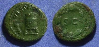 Ancient Coins - Titus (as Augustus) 79-81 – Quadrans
