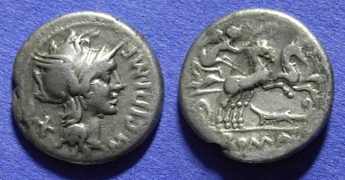 Ancient Coins - Roman Republic - Denarius 115-114 BC - Cipia 1