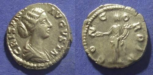 Ancient Coins - Roman Empire, Crispina d.182 AD, Denarius