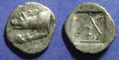 Ancient Coins - Argos,  Circa 200 BC, Hemidrachm