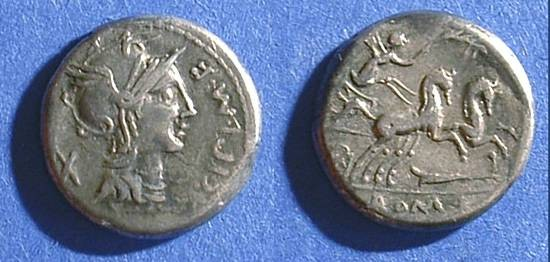 Ancient Coins - Roman Republic - Denarius - Cipia 1 115/114 BC