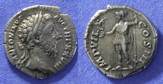Ancient Coins - Roman Empire - Marcus Aurelius 161-180 - Denarius