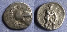 Ancient Coins - Bruttium, Kroton 299-281 BC, Triobol