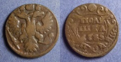 World Coins - Russia, Anne 1735, Polushka