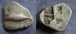 Ancient Coins - Mysia, Kyzikos 520-480 BC, Hemiobol
