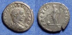 Ancient Coins - Roman Empire, Geta (as Caesar) 198-208, Silver Denarius
