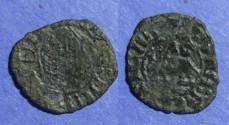 World Coins - Kingdom of Sicily, Frederick IV 1355-77, Denaro