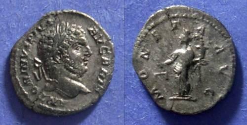 Ancient Coins - Roman Empire, Caracalla 198-217, Denarius