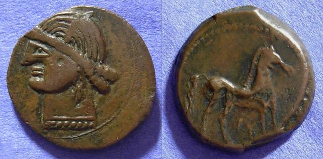 Ancient Coins - Sardinia - Time of the first Punic war 264-241 BC - AE23