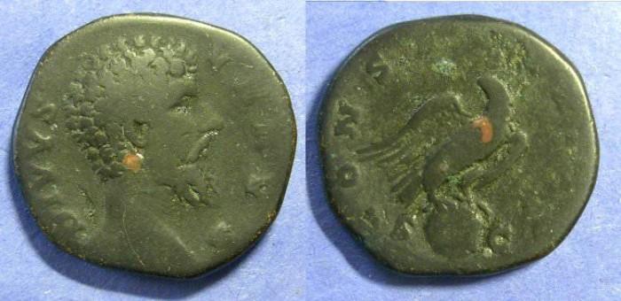 Ancient Coins - Roman Empire, Divus Lucius Verus D. 169, Sestertius