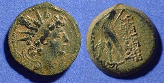 Ancient Coins - Seleucid Kingdom - Antiochos VIII 121-96 BC  AE19