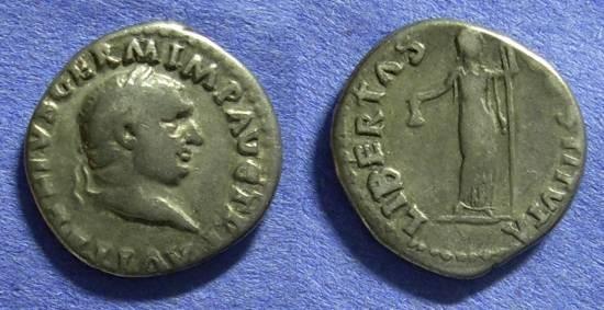 Ancient Coins - Vitellius 69AD – Denarius