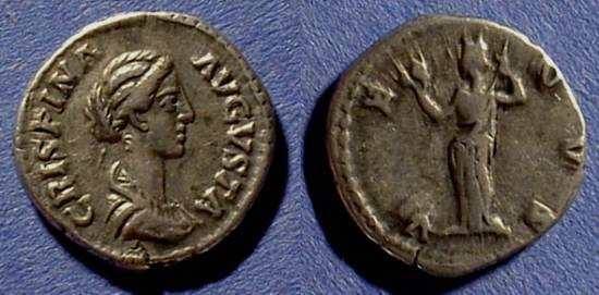 Ancient Coins - Crispina 178-182 (Wife of Commodus) Denarius