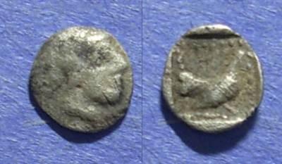 Ancient Coins - Methymna, Lesbos 500-460 BC, Hemiobol