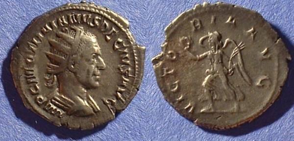 Ancient Coins - Trajan Decius 249-251 Antoninianus with Victory reverse