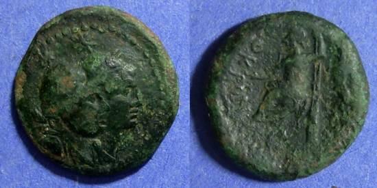Ancient Coins - Bruttium, Locroi Epizephyrii Circa 200 BC, AE19
